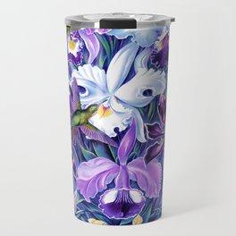 Orchids & Hummingbirds Travel Mug