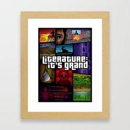 Grand Theft Literature Framed Art Print