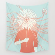 Flower Girl (Life and the Fragile Presence of Beauty) Wall Tapestry