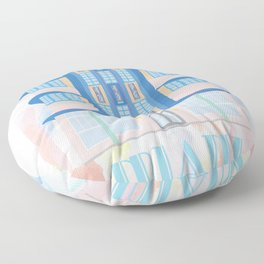 Miami Landmarks - Marlin Floor Pillow