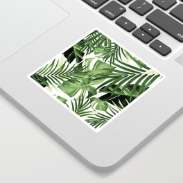 Tropical Jungle Leaves Pattern #12 #tropical #decor #art #society6 Sticker