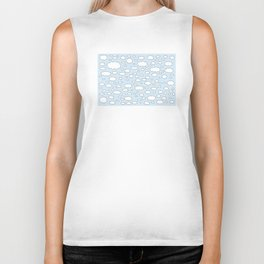 Celestial sky with little clouds of caricatures Biker Tank