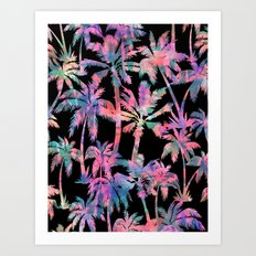 Maui Palm {Black} Art Print
