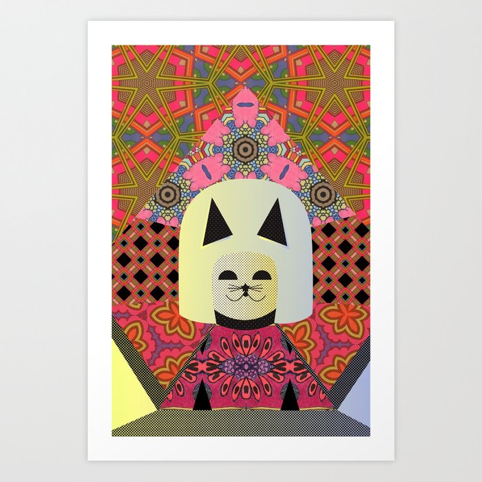 Mizz Kitty, the Vixen of Mixin' Art Print