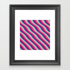 Abstract Color Burn Pattern - Geometric Lines / Optical Illusion in Rainbow Acid Colors Framed Art Print