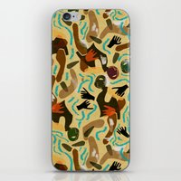 swimming iPhone & iPod Skins featuring Swimming by Boiling Point Press
