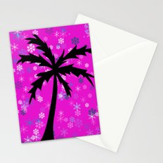 Palm Tree and Snowflakes Stationery Cards
