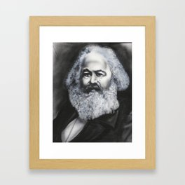 Marx: Glitter Beard Framed Art Print