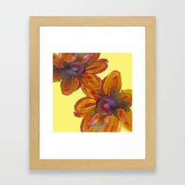 SEEKING SUMMER FLOWERS Framed Art Print