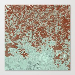 Wine Stain on Green Canvas Print