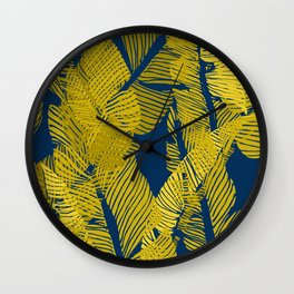 Carved Yellow&Blue Jungle #society6 #decor #buyart Wall Clock