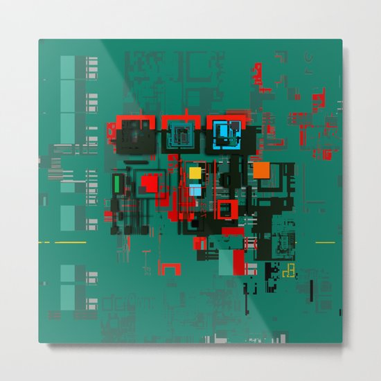Triadian Navigational Apparatus Metal Print