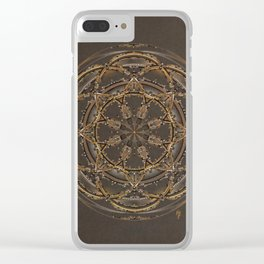 Copper, Siver, and Gold Mandala Clear iPhone Case