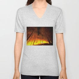 Forest Fire Unisex V-Neck