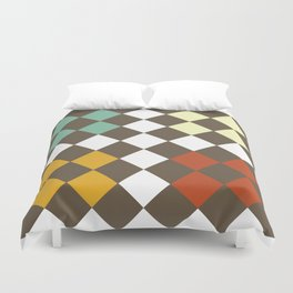Checkers Fall Duvet Cover
