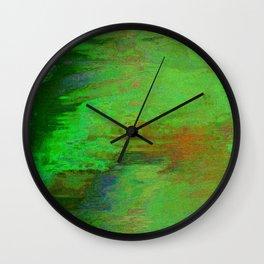 07-030-14 (City Reflection Glitch) Wall Clock