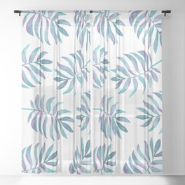 Wild, Barefoot & Free - Palm Leaf Quote Sheer Curtain
