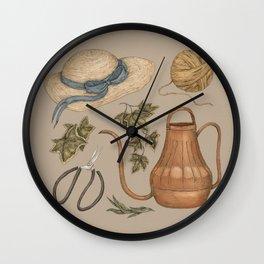 May Gardening Collection Wall Clock