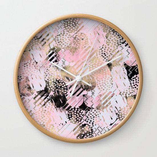 PatternMix01 Wall Clock