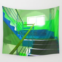 Staircase in Russia.  Wall Tapestry