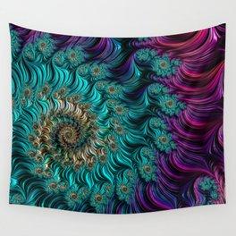 Aqua Swirl Wall Tapestry