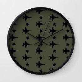 F-18 Hornet Fighter Jet Pattern Wall Clock