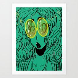 Clueless Green Art Print