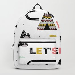Let's go on an adventure tribal design Backpack