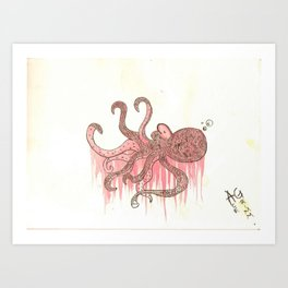 Ink & Stain Art Print