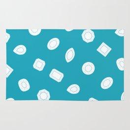 Blue Moissy Gem Pattern Rug