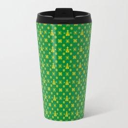 High Quality - Gold and Green Travel Mug