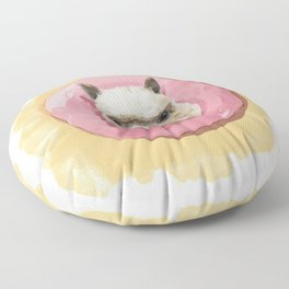 Llama Strawberry Donut Floor Pillow