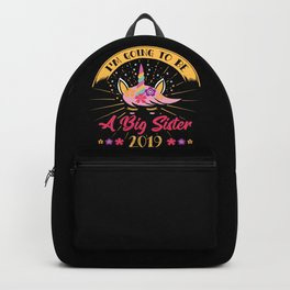 BIG SISTER: Going To Be A Big Sister 2019 Announcement Pregnancy Daughter Backpack