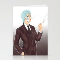 bleach Stationery Cards featuring Bleach: Grimmjow by Mattie