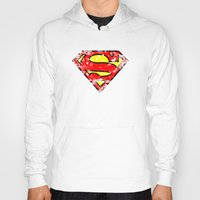 superman Hoodies featuring Superman by sambeawesome