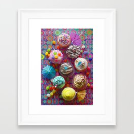 Cupcake du Jour Framed Art Print