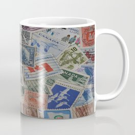 Canadian Pride Vintage Postage Stamp Collection From Canada Coffee Mug
