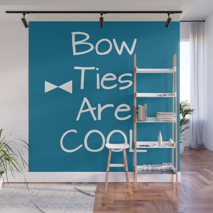 DOCTOR WHO Bow Ties Are Cool Teal Wall Mural