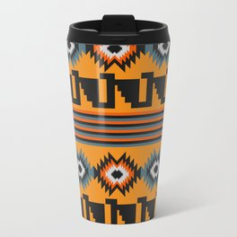 Geometric with colorful stripes Travel Mug