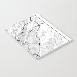 Minimal City Maps - Map Of Birmingham, Alabama, United States Notebook