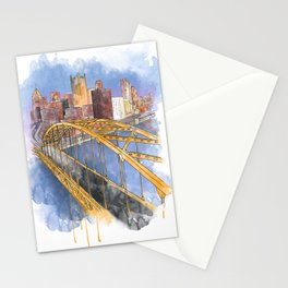 Pittsburgh Fort Pitt and Downtown Stationery Cards