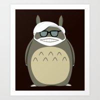 miyazaki Art Prints featuring Miyazaki Tribute by Kororo