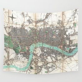 Vintage Map of London England (1806) Wall Tapestry