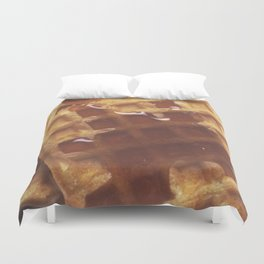Waffles With Syrup Duvet Cover