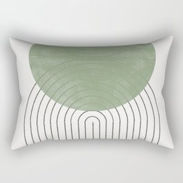 Green Moon Shape Rectangular Pillow