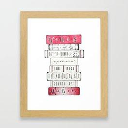 Words & Magic Framed Art Print