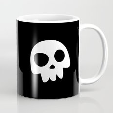 Skull Head logo with Three Teeth | Bones, white, pirates, symbolism, mortality, death, Halloween Mug
