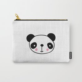 Cute panda head in black and white Carry-All Pouch