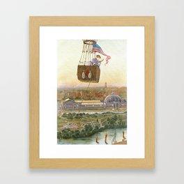 Chicago World's Fair Balloon Ride, 1893 Color Print Framed Art Print