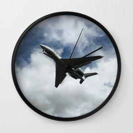 Silhuette of an aircraft Wall Clock
